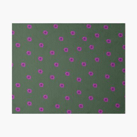 Psychedelic pink flower Art Board Print
