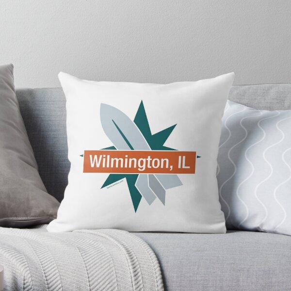 Route 66 - Wilmington, IL - Gemini Giant Throw Pillow