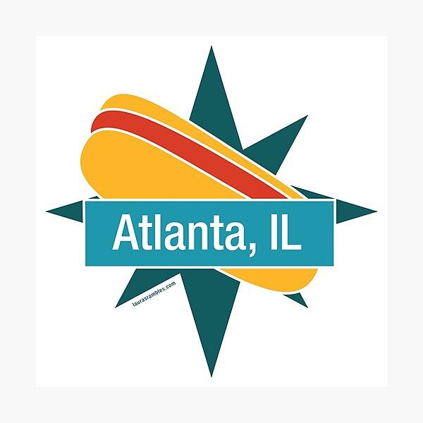 Route 66 - Atlanta, IL - Paul Bunyan's Hot Dog Photographic Print