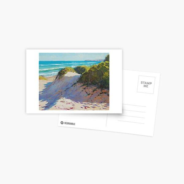 Beach Dunes Painting Postcard