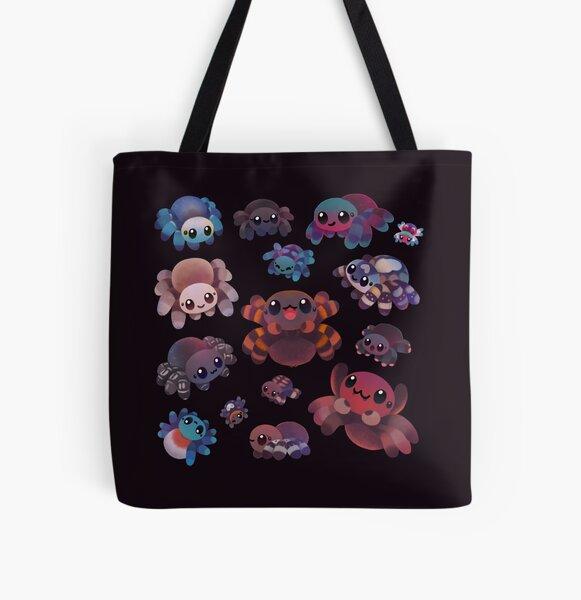 Tarantulas - dark All Over Print Tote Bag