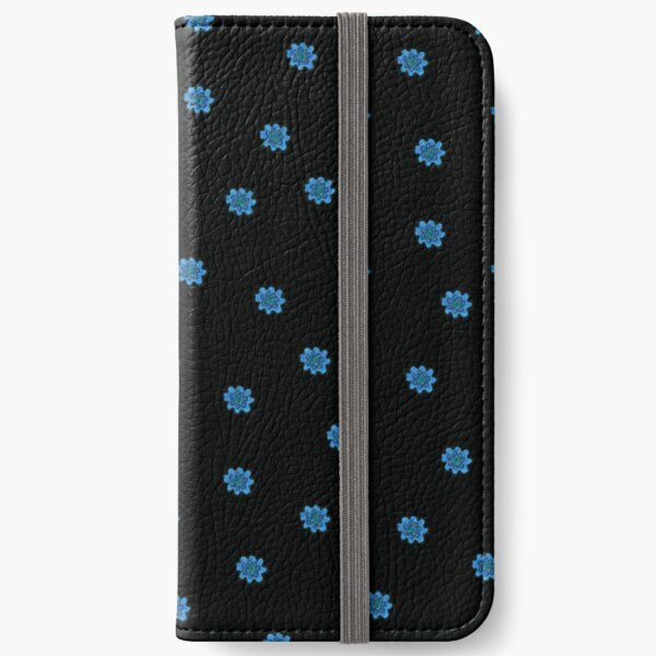 Psychedelic blue flower iPhone Wallet