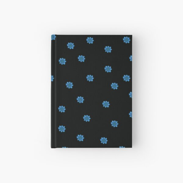 Psychedelic blue flower Hardcover Journal