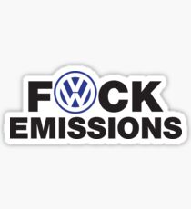 VW Diesel Humor Sticker