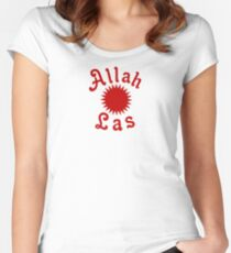 Allah Las Sun Drawing Women's Fitted Scoop T-Shirt