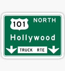 Hollywood Road Sign, California, USA Sticker