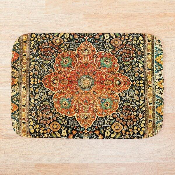 Antique Persian Mohtashem Kashan Rug Print Bath Mat