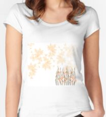 Flowers in paradise Women's Fitted Scoop T-Shirt