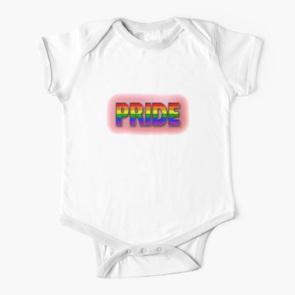 Rainbow PRIDE - Red Short Sleeve Baby One-Piece