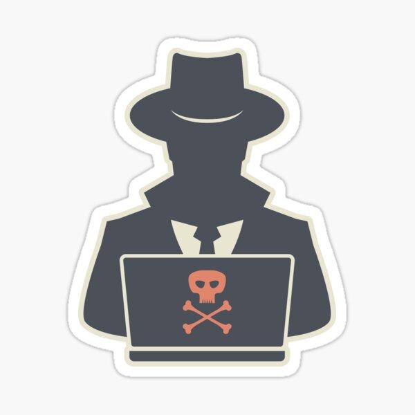 Robber hacker Sticker
