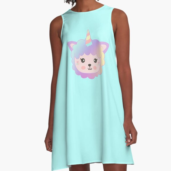 Llamacorn Rainbow A-Line Dress