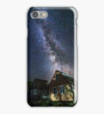 The Milky Way that rises among the houses iPhone Case/Skin