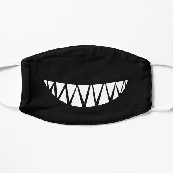 Shark teeth mask smile funny Flat Mask