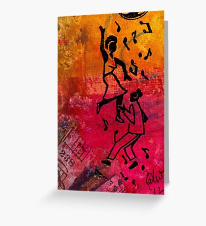 Dancing the Night Away Greeting Card