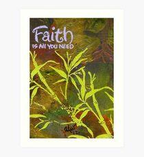 Having Faith Art Print