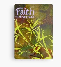 Having Faith Metal Print