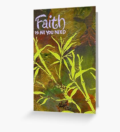 Having Faith Greeting Card