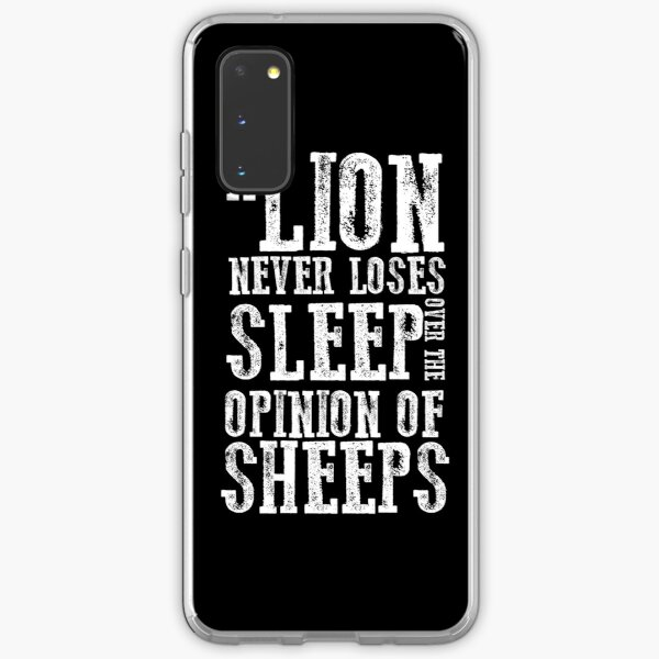 A Lion Never Loses Sleep Over The Opinion Of Sheeps  Uptown T-Shirt Samsung Galaxy Soft Case