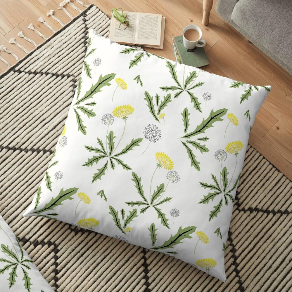 Dandelion Dance Floor Pillow