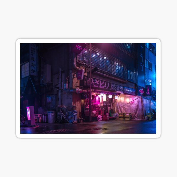 Tokyo Retro Future Vibes retrowave synthwave vibe Sticker