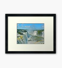 Mighty Iguazu Framed Print