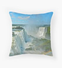 Mighty Iguazu Throw Pillow
