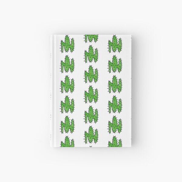 Green cactus Hardcover Journal