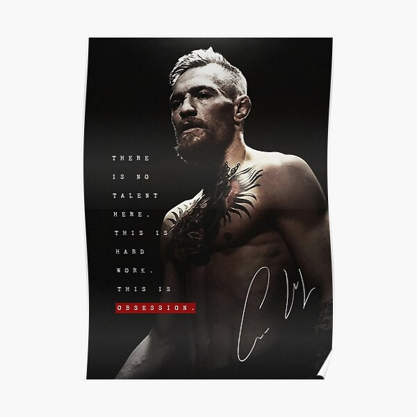 Connor McGregor - C'est de l'obsession Poster
