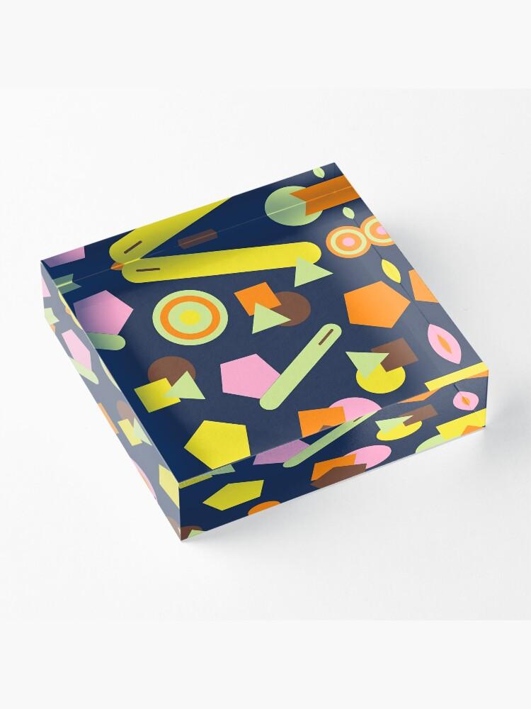 Alternate view of Geometric Sweets Acrylic Block