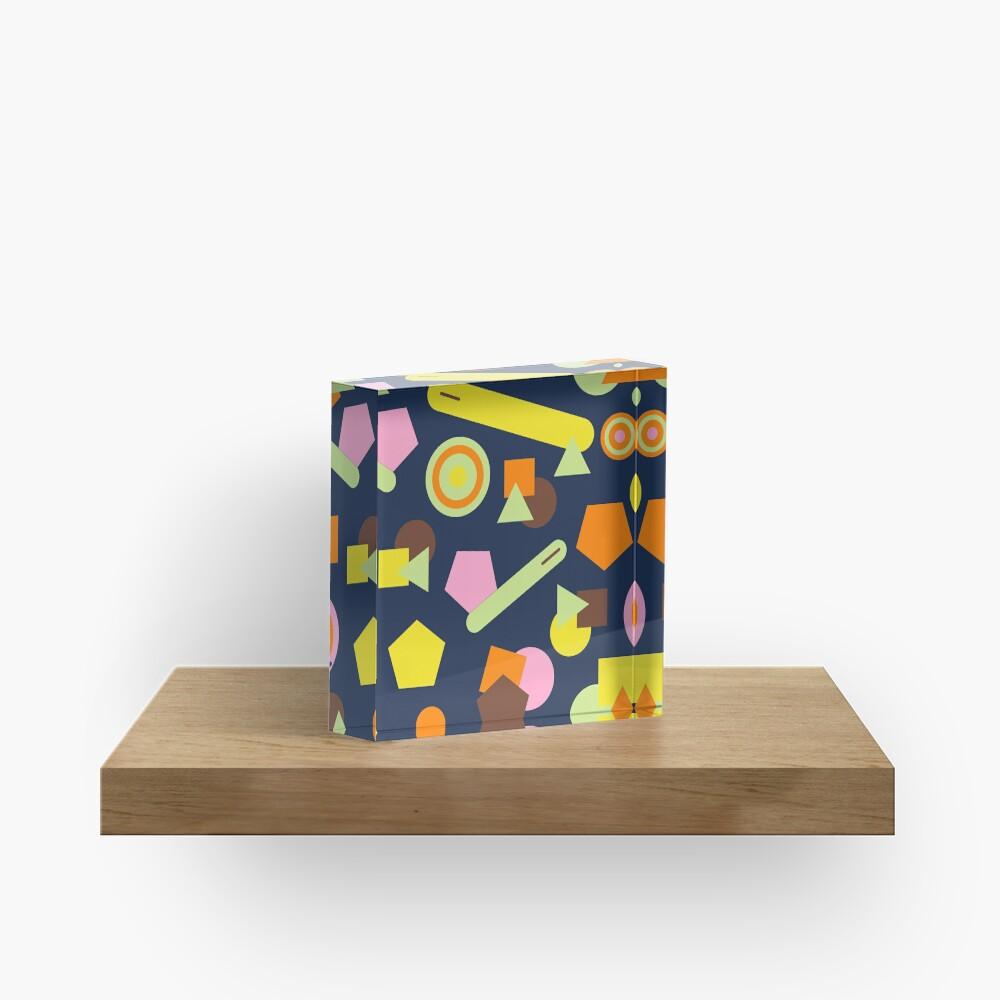 Geometric Sweets Acrylic Block