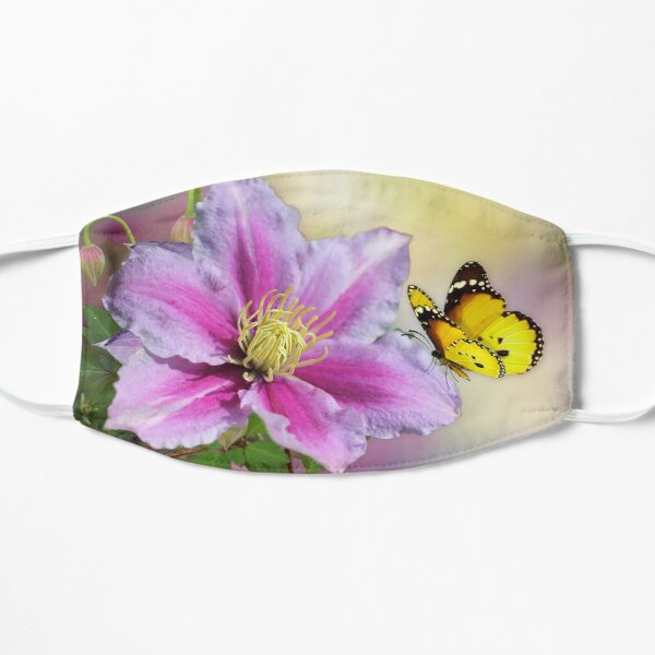 Butterfly on Clematis Mask