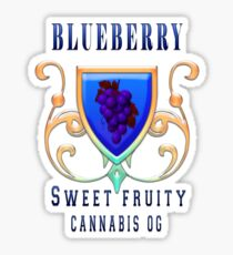 Weed blueberry  sweet fruity gifts Sticker