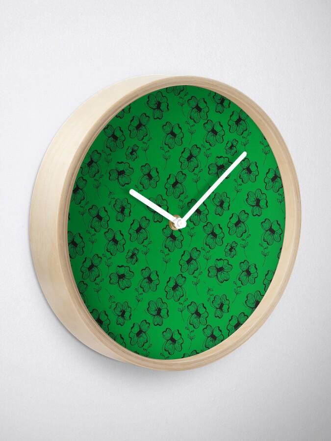Alternate view of Bright Green Pretty Pansy Clock