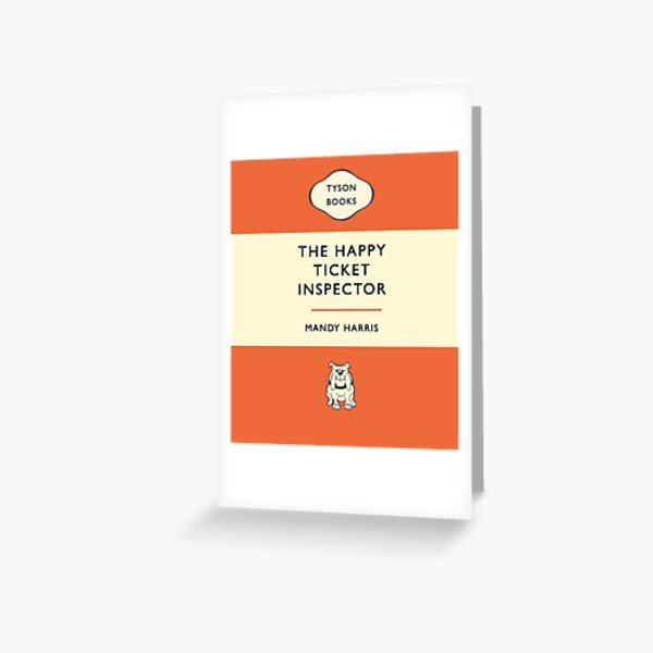 The Happy Ticket Inspector by Mandy Harris Greeting Card