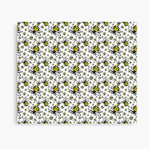 Buzzy Bee and his little ones  Canvas Print