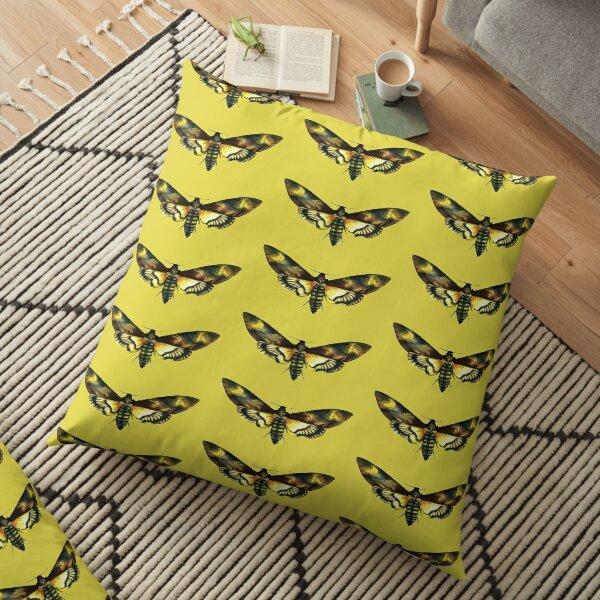 Deaths-Head Hawk Moth Floor Pillow