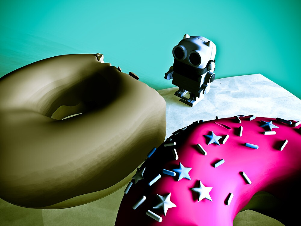 Doughnuts and Toy Robot 02 by mdkgraphics