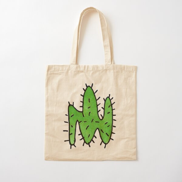 Green cactus Cotton Tote Bag