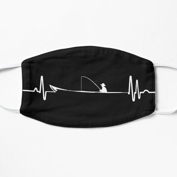 Fisherman Fishing Heartbeat  Uptown T-Shirt Flat Mask