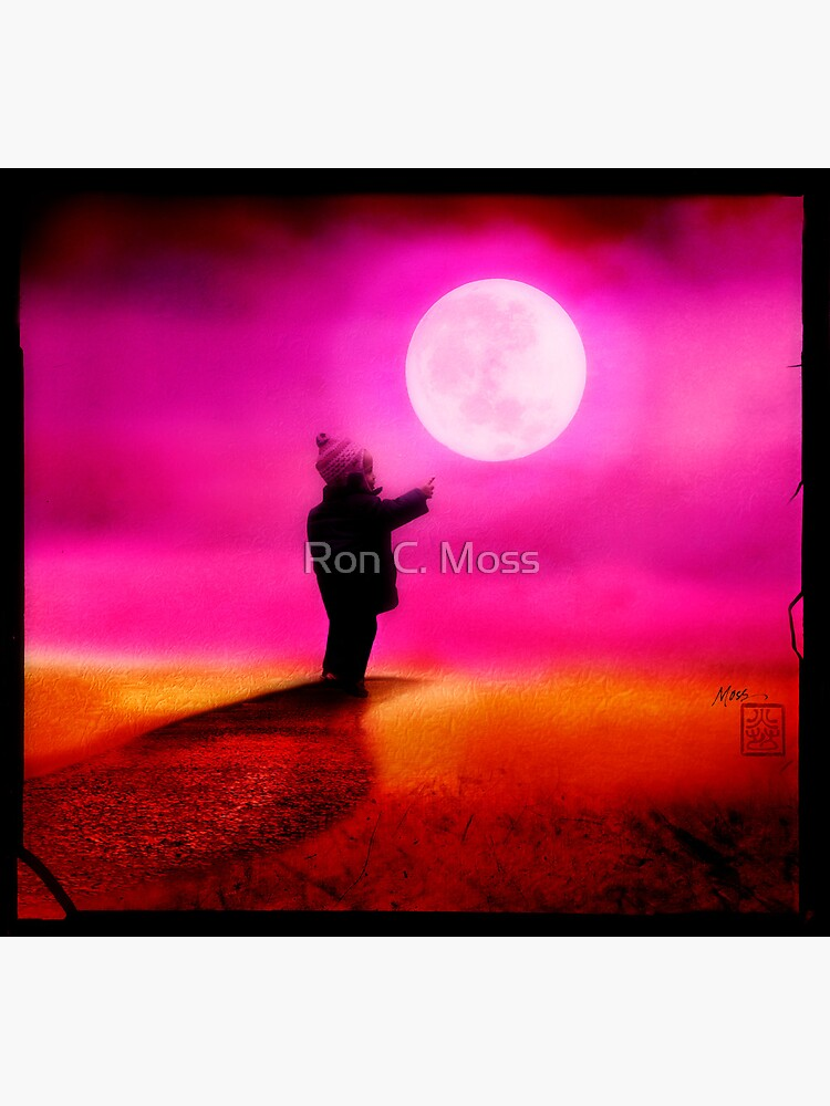 Pointing To The Moon by ronmoss