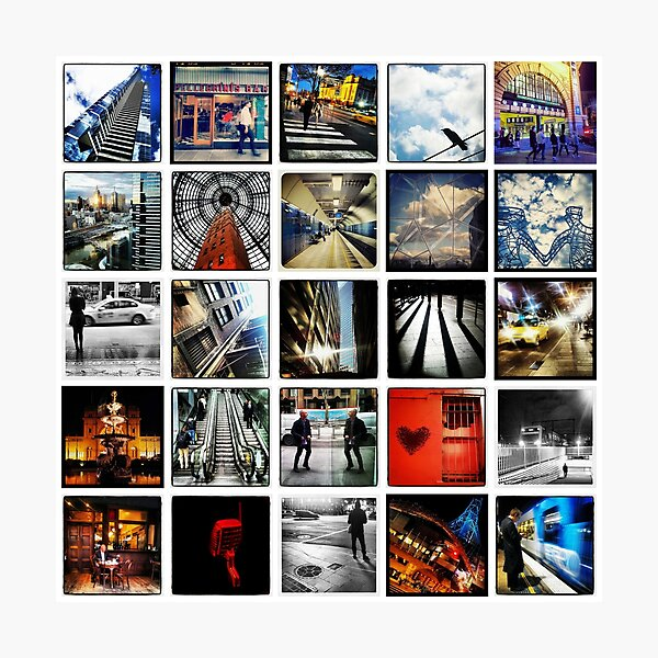 Insta Wall Melbourne Photographic Print