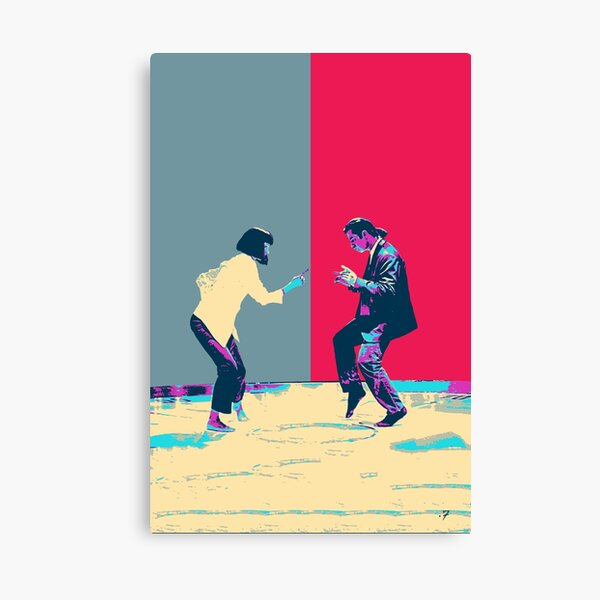 Pulp Fiction Revisited - Vincent Vega and Mia Wallace - The Dance Canvas Print