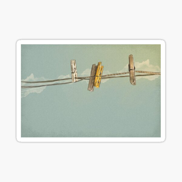 Clothespin Sticker