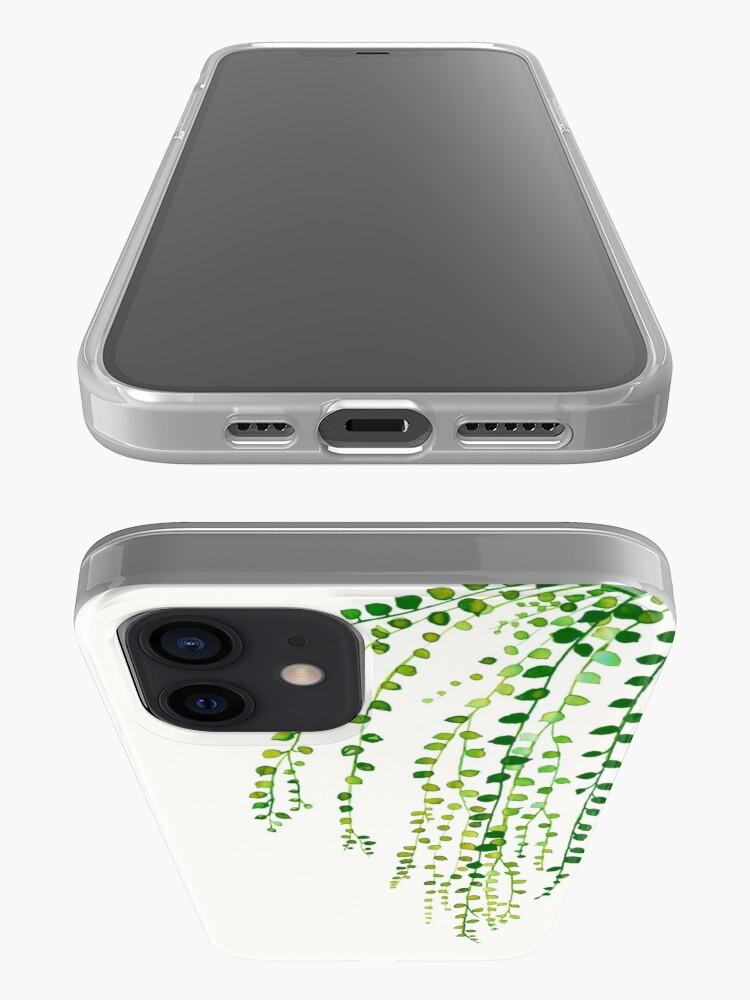 Alternate view of Green string of pearls ink illustration botanical nature iPhone Case & Cover