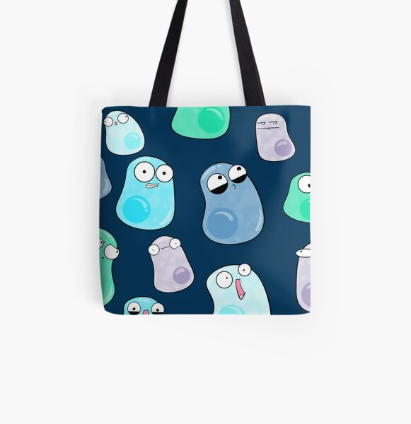 Multicellular Mosaic All Over Print Tote Bag