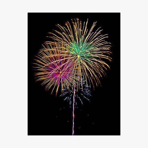 Fireworks - 4th of July Photographic Print