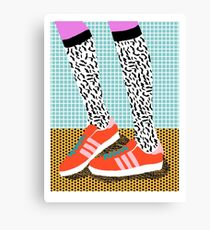 Spiffy - shoes art print memphis design style modern colorful california socal los angeles brooklyn hipster art pattern  Canvas Print