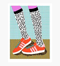 Spiffy - shoes art print memphis design style modern colorful california socal los angeles brooklyn hipster art pattern  Photographic Print