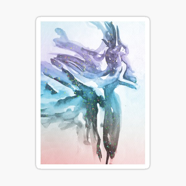 Watercolour Ballerina Sticker