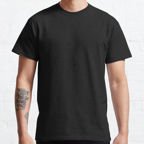 Plain Solid Black Classic T-Shirt